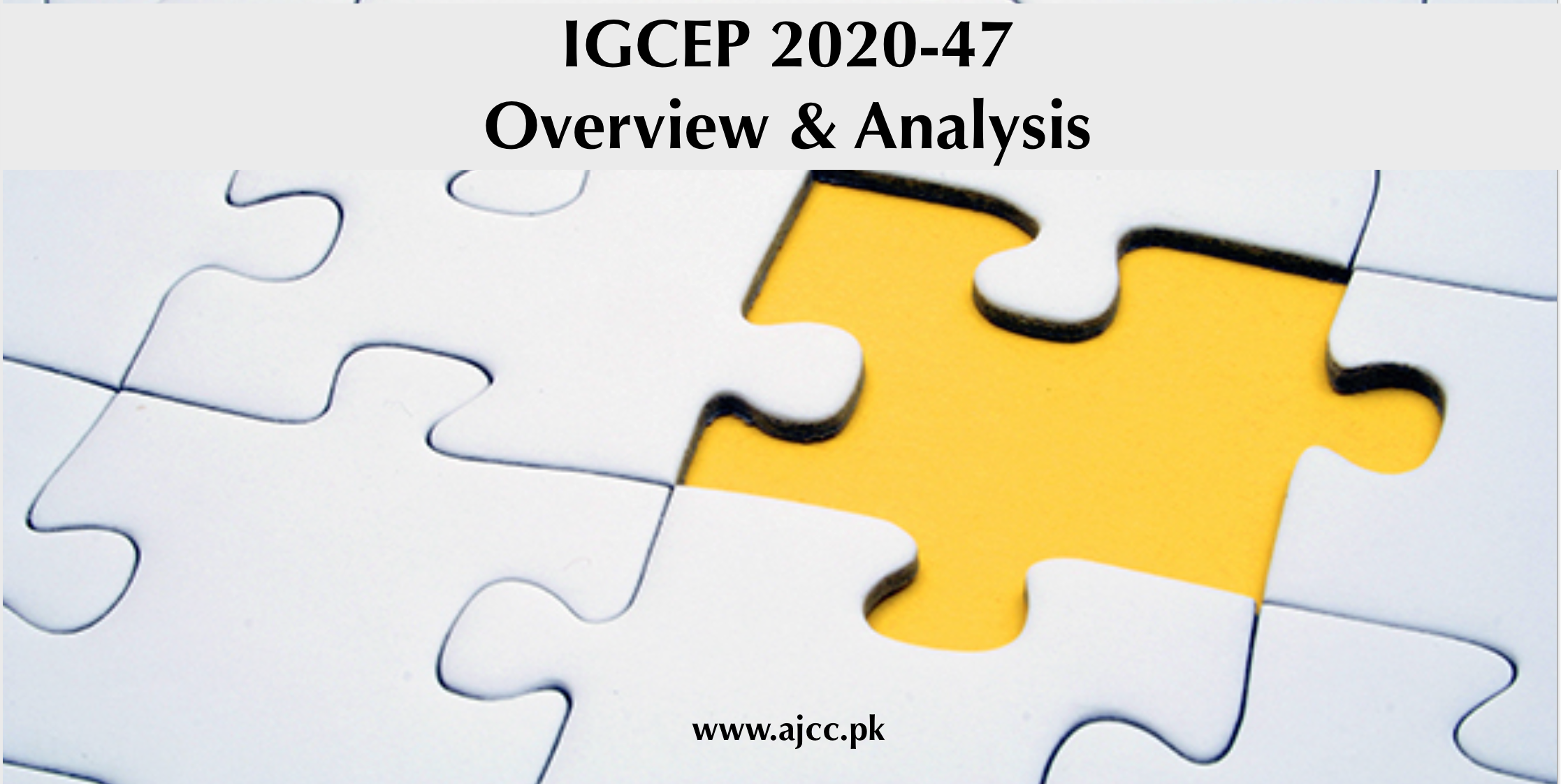 Overview of IGCEP 2020-47